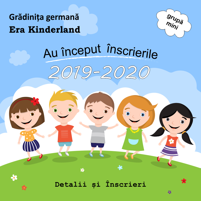 Inscrieri 2019 gradinita germana ERA Kinderland